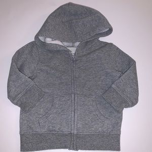Jumping Bean Gray Zip Up Hoodie Size: 12M
